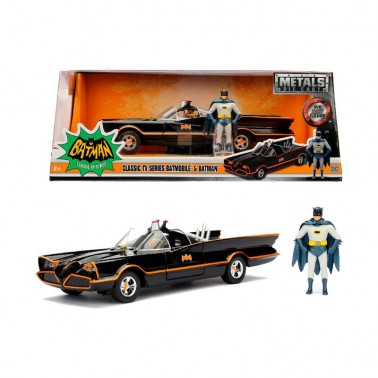 Figura metálica Batman y Batmóvil 1966 1:24