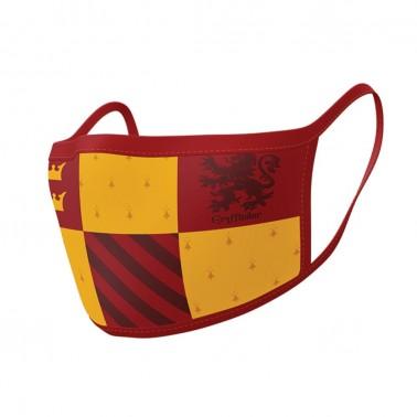 Pack de 2 cover mask textiles premium casa Gryffindor