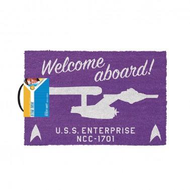 Felpudo Star Trek Welcome Aboard!