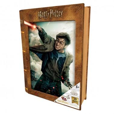 Puzzle 3D-libro lenticular Harry Potter Batalla