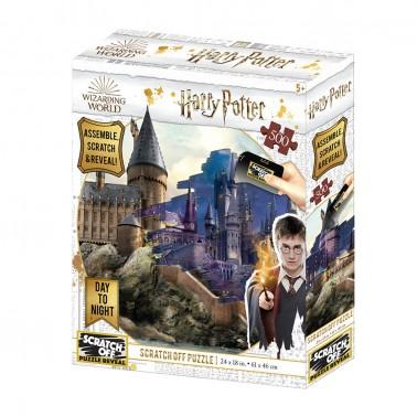 Puzzle 3D-Rasca Hogwarts Día y Noche