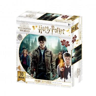 Puzzle lenticular 3D Harry, Hermione y Ron 500 piezas