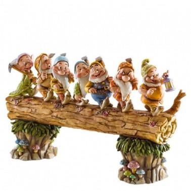 Figura decorativa 7 Enanitos en el tronco
