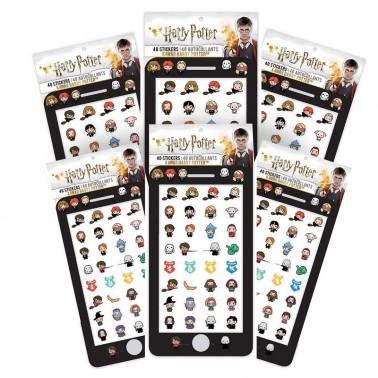 Set de 40 Stickers Harry Potter Kawaii (6 hojas)