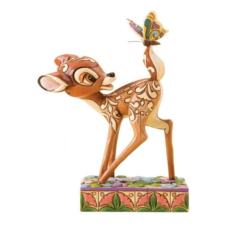 Figura decorativa de Bambi con mariposas