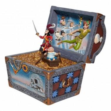 Figura decorativa Cofre Peter Pan Escena Voladora