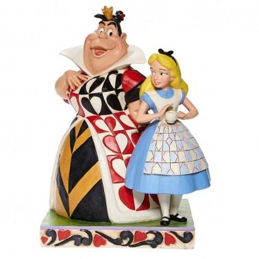 Figura decorativa Alícia y La Reina de Corazones
