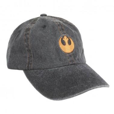 Gorra denim gris tipo baseball Star Wars logo Alianza Rebelde.