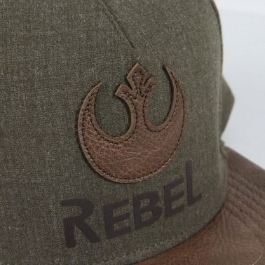 Gorra verde con visera marrón plana Star Wars logo Alianza Rebelde