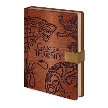Cuaderno A5 GoT 4 Casas