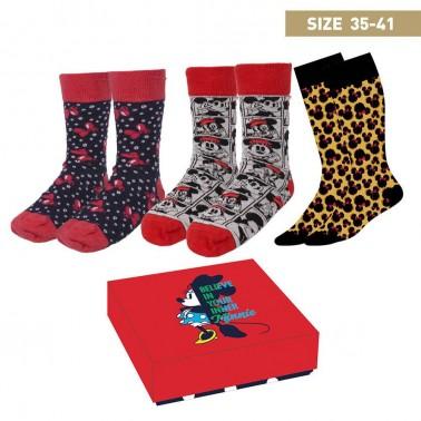 Caja regalo calcetines Minnie Mouse Believe