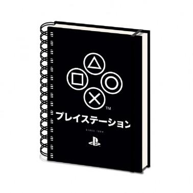 Cuaderno A5 con espiral PlayStation Onyx