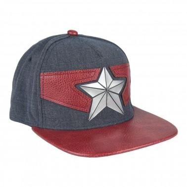 Gorra Capitán América azul y roja