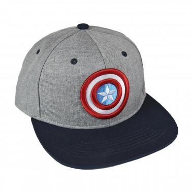 Gorra gris y azul Capitán América