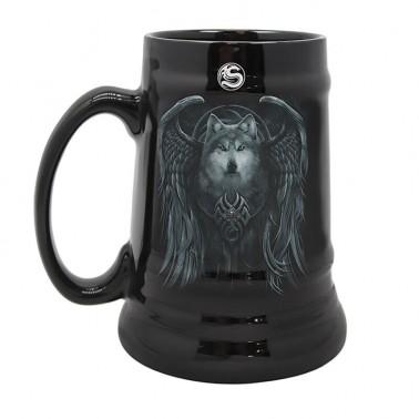 Jarra de cerámica Spiral Wolf Spirit