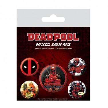 Juego de chapas Deadpool Outta The Way