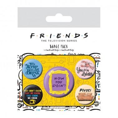 Juego de chapas Friends Frases