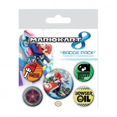 Juego de chapas Mario Kart 8