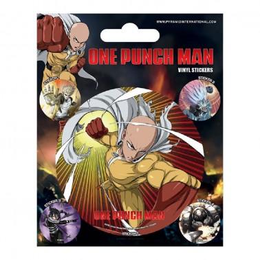 Juego de pegatinas One Punch Man Puño Atómico