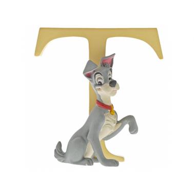Letra Inicial T con figura de Tramp