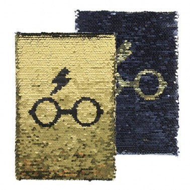 Libreta lentejuelas Harry Potter