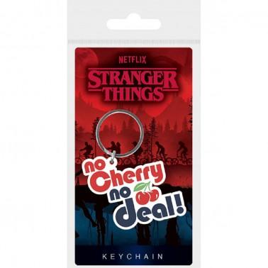 Llavero caucho Stranger Things No Cherry No Deal