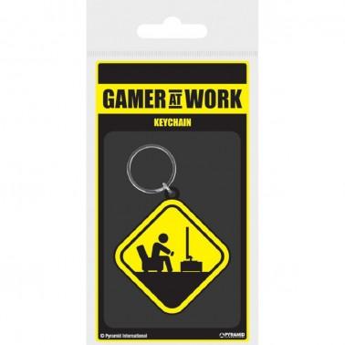 Llavero Gamer at work señal peligro