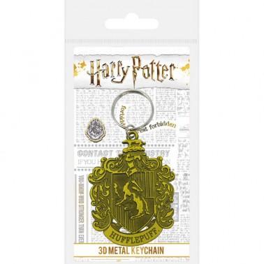 Llavero Metálico Harry Potter Escudo Hufflepuff
