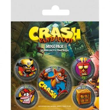 Set Chapas Crash Bandicoot